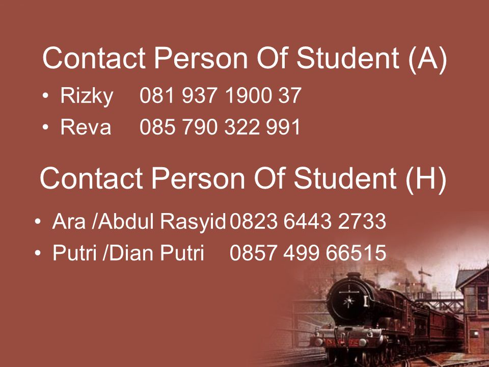 Contact Person Of Student (A)