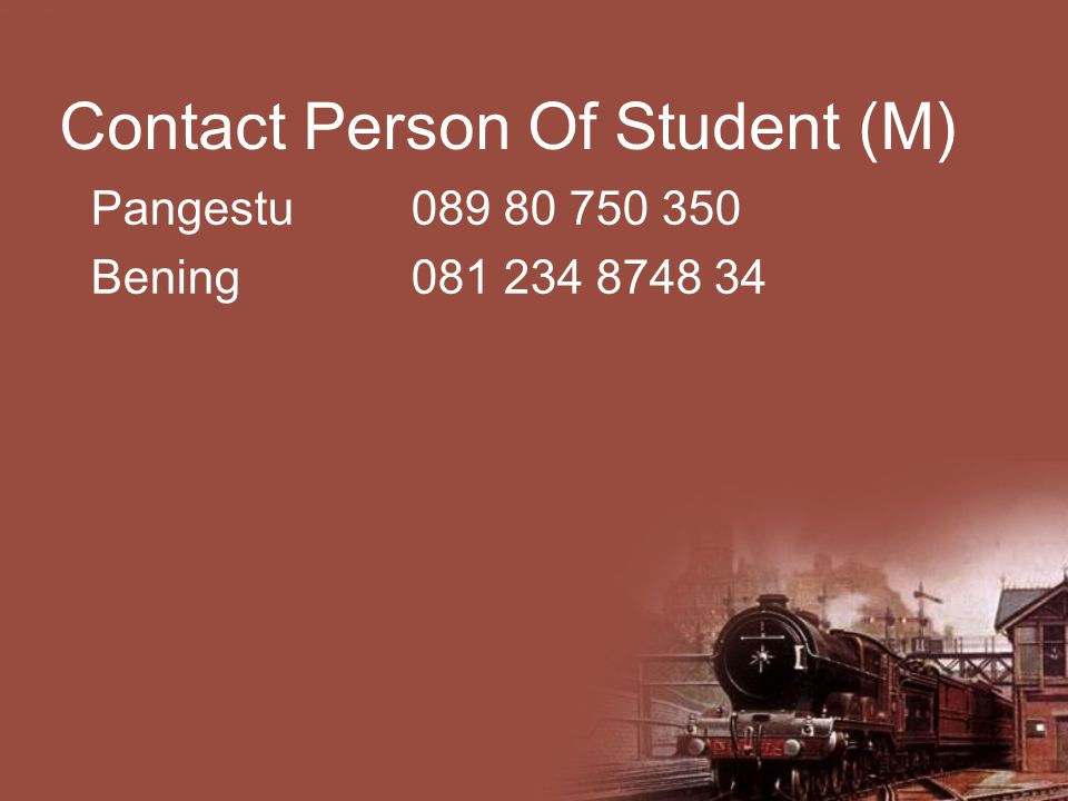 Contact Person Of Student (M)