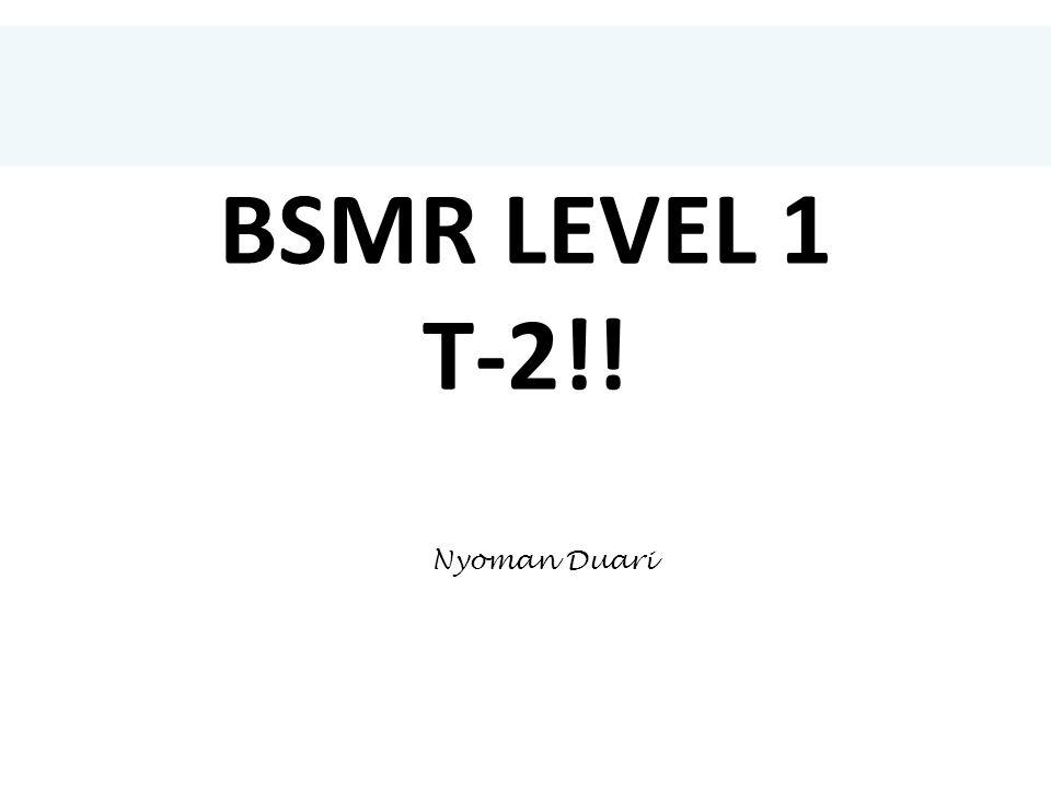 BSMR LEVEL 1 T-2!! Nyoman Duari