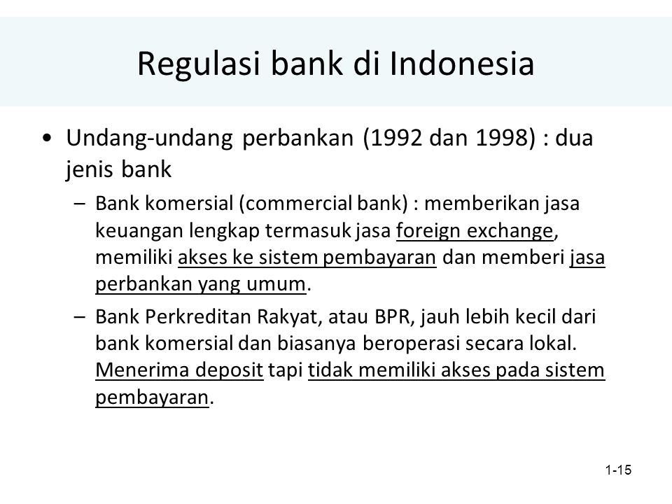 Regulasi bank di Indonesia