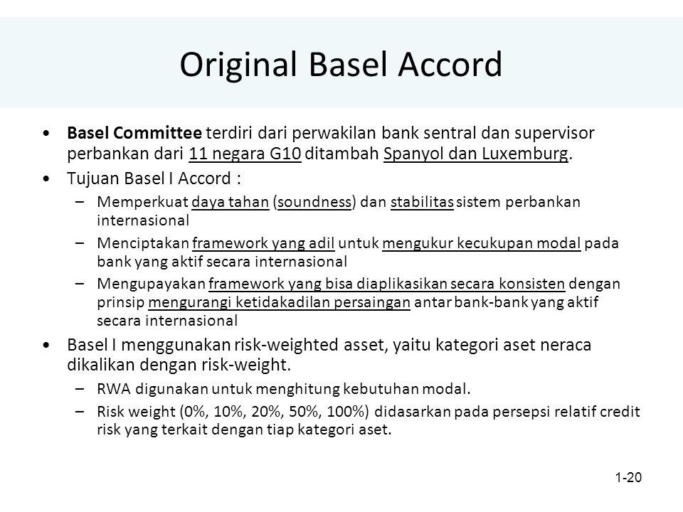 Original Basel Accord