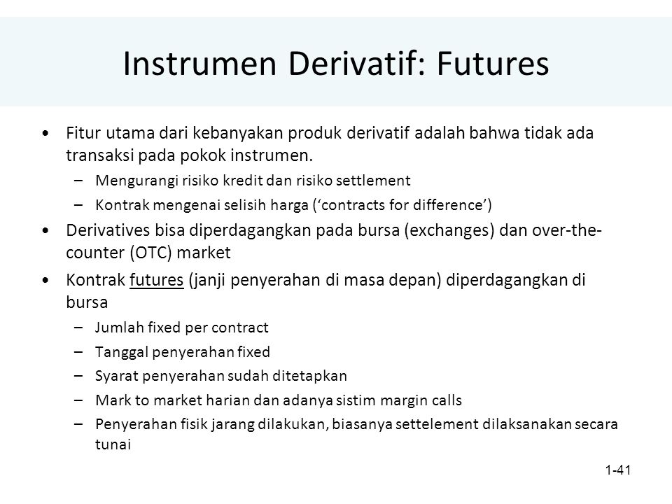 Instrumen Derivatif: Futures