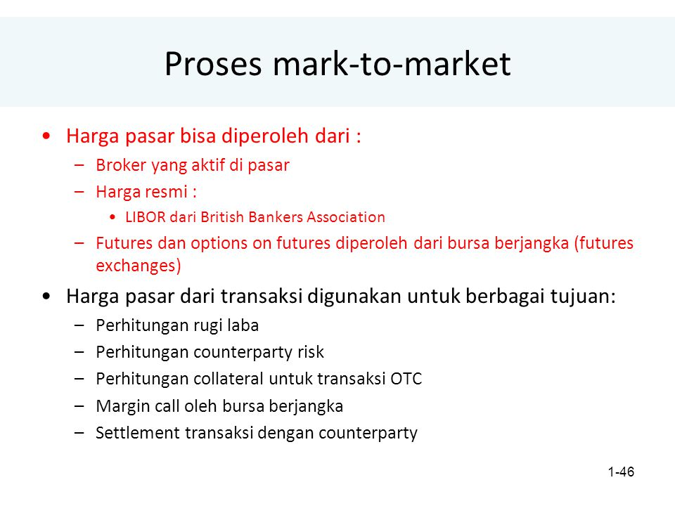 Proses mark-to-market