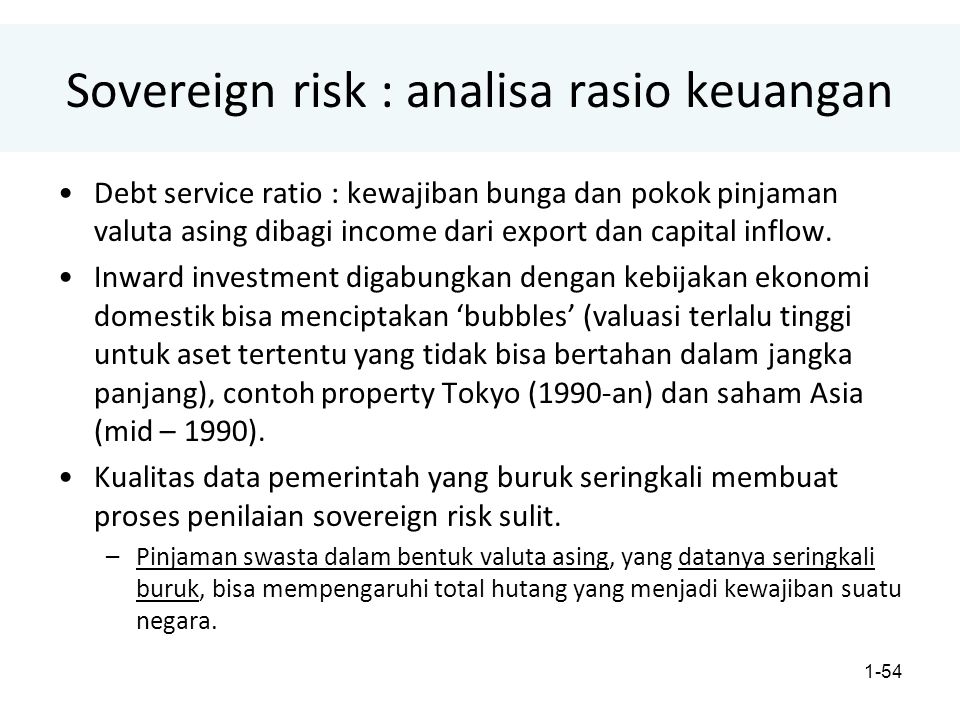 Sovereign risk : analisa rasio keuangan