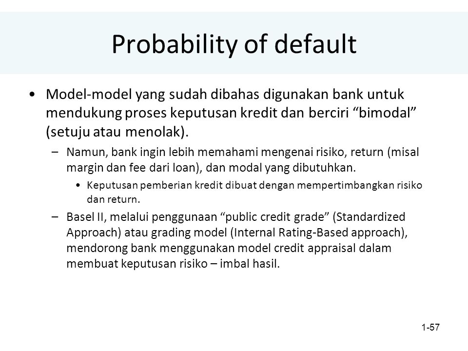 Probability of default