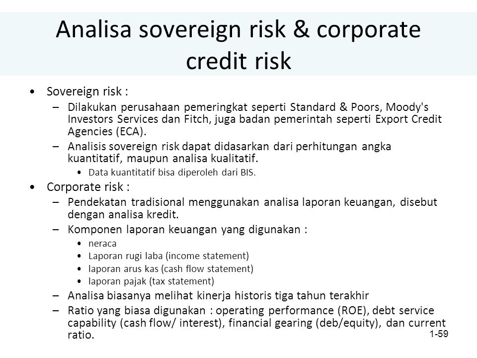 Analisa sovereign risk & corporate credit risk