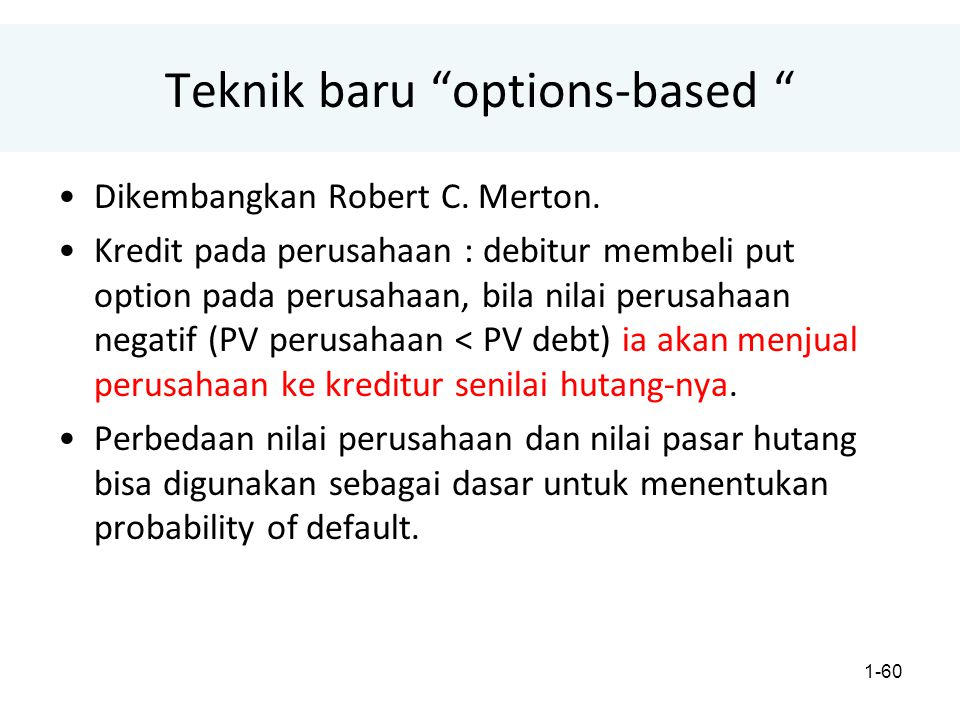 Teknik baru options-based