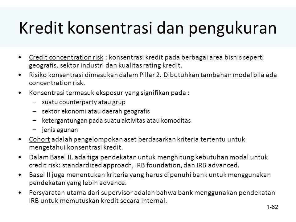 Kredit konsentrasi dan pengukuran