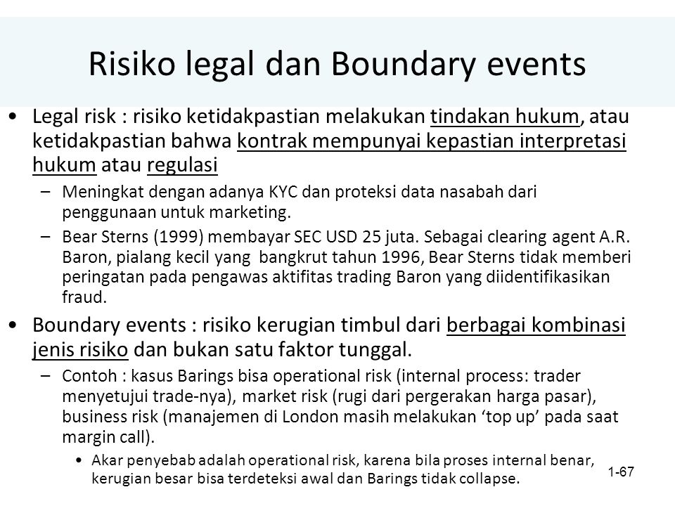 Risiko legal dan Boundary events