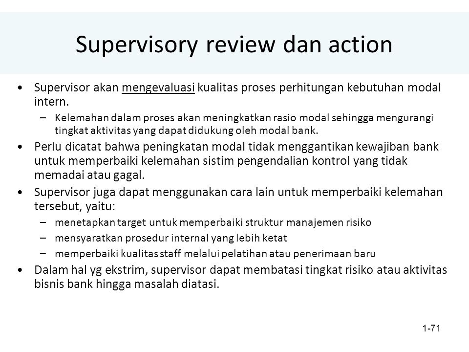 Supervisory review dan action
