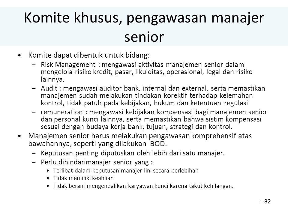 Komite khusus, pengawasan manajer senior