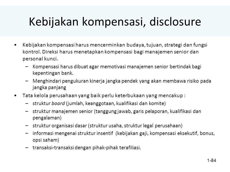 Kebijakan kompensasi, disclosure