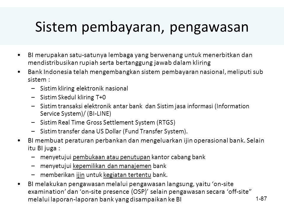 Sistem pembayaran, pengawasan