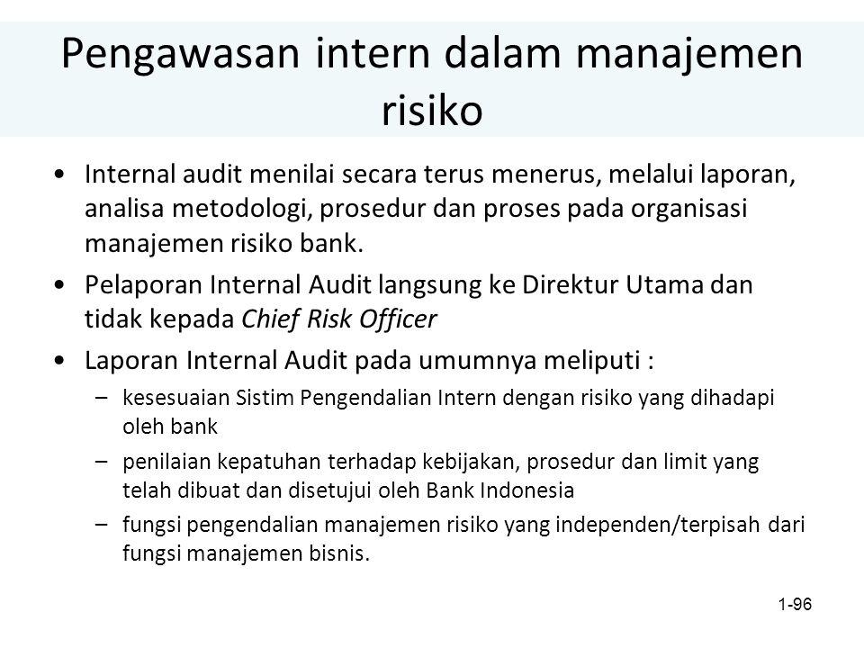 Pengawasan intern dalam manajemen risiko