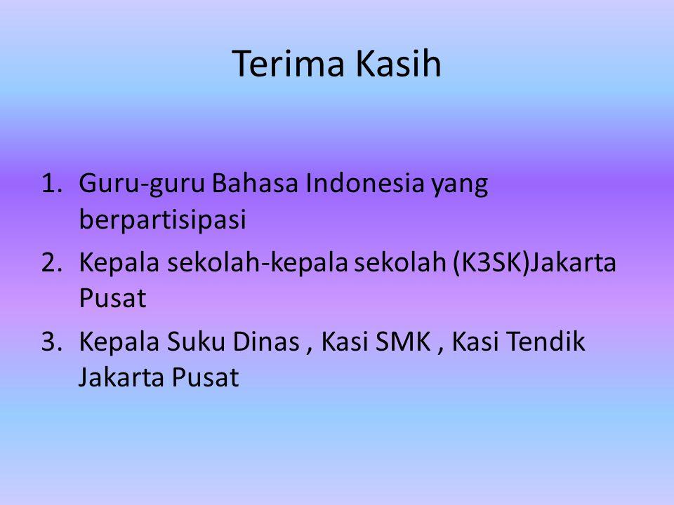 Terima Kasih Guru-guru Bahasa Indonesia yang berpartisipasi