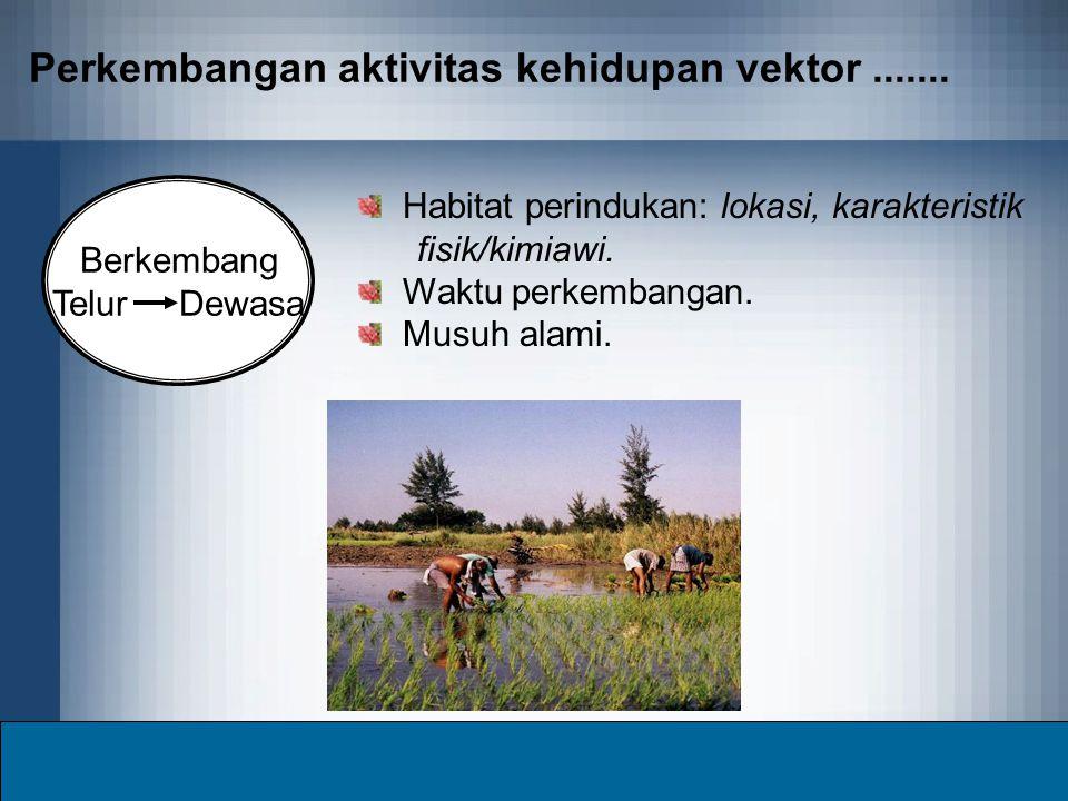 Perkembangan aktivitas kehidupan vektor .......