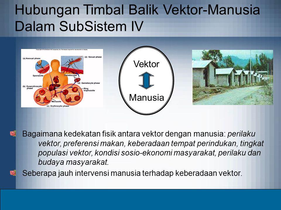 Hubungan Timbal Balik Vektor-Manusia Dalam SubSistem IV