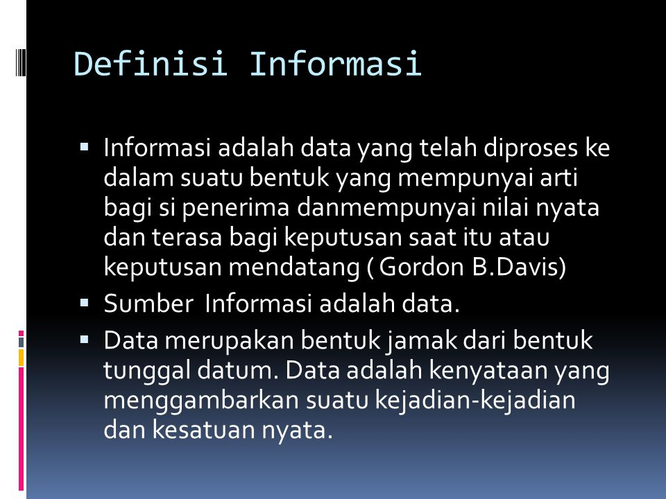 Definisi Informasi