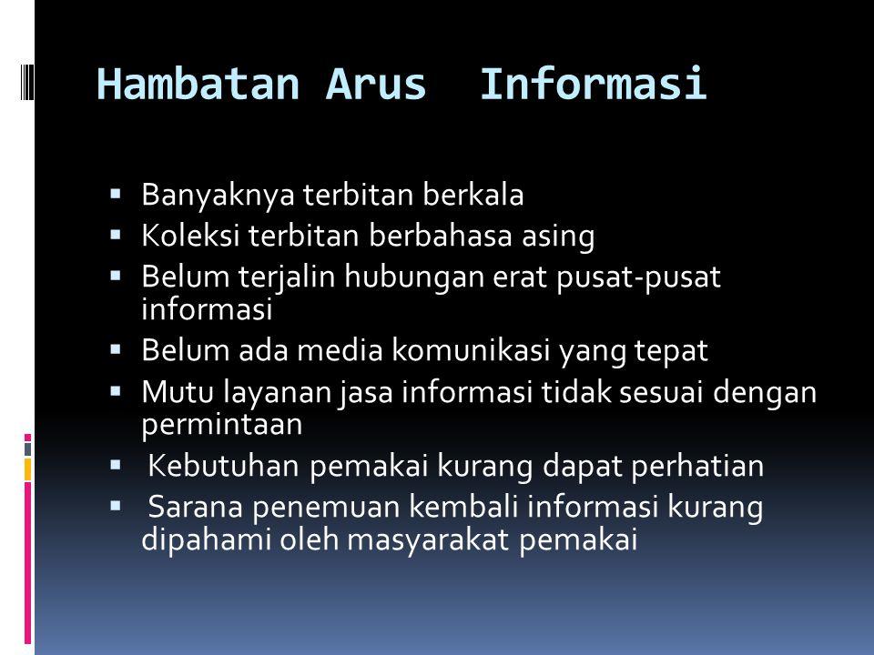 Hambatan Arus Informasi