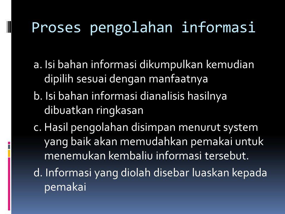 Proses pengolahan informasi