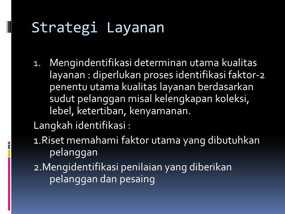 Strategi Layanan