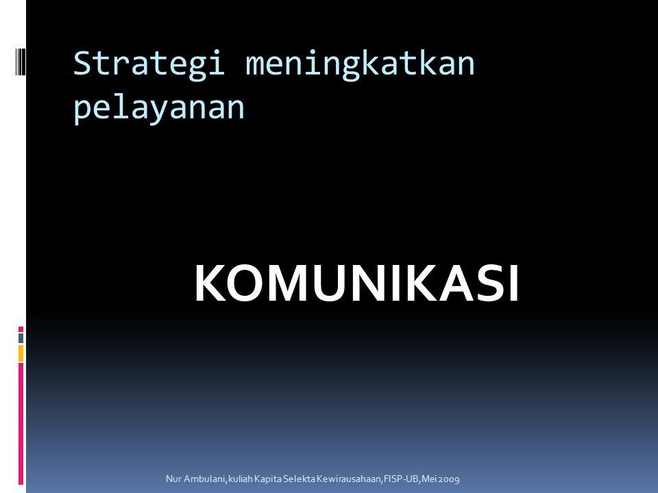 Strategi meningkatkan pelayanan