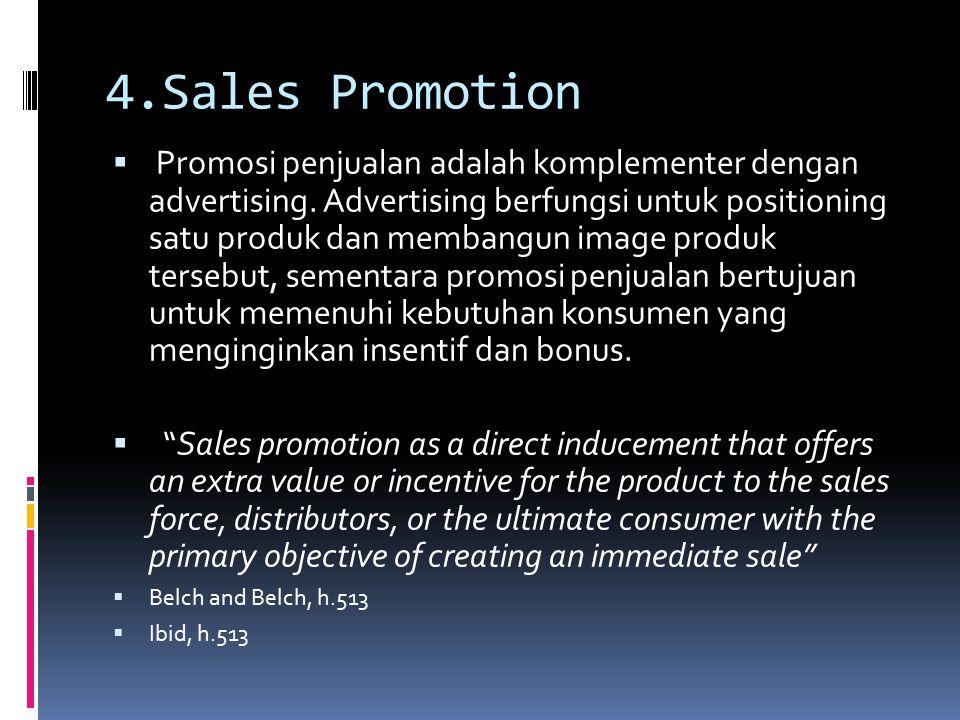 4.Sales Promotion