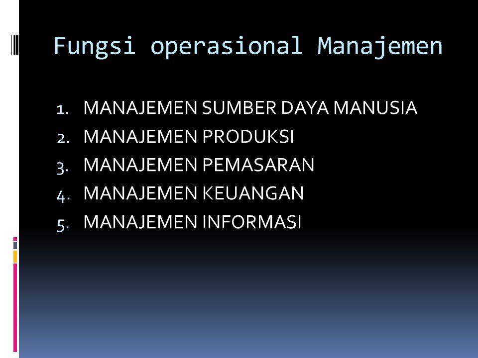Fungsi operasional Manajemen
