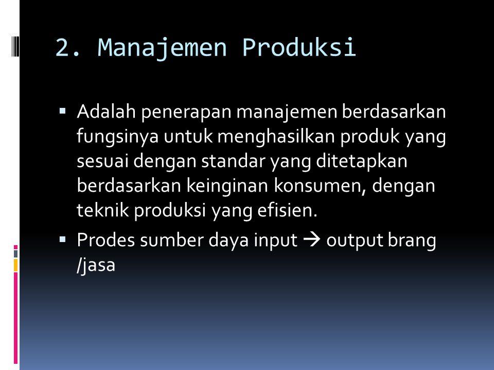 2. Manajemen Produksi