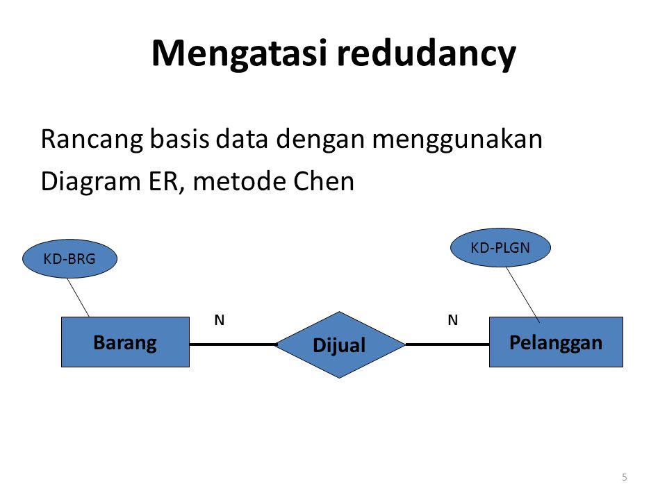 Mengatasi redudancy Rancang basis data dengan menggunakan