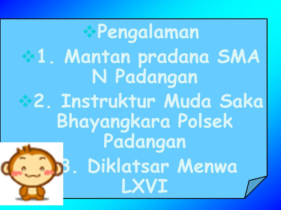 1. Mantan pradana SMA N Padangan