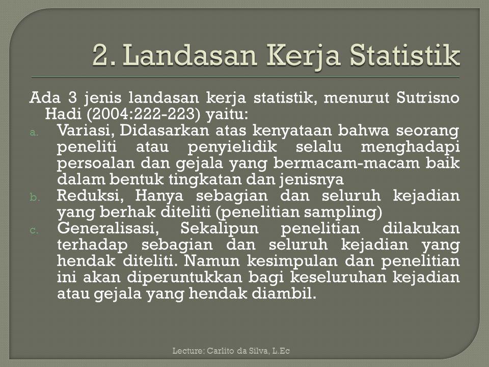 2. Landasan Kerja Statistik