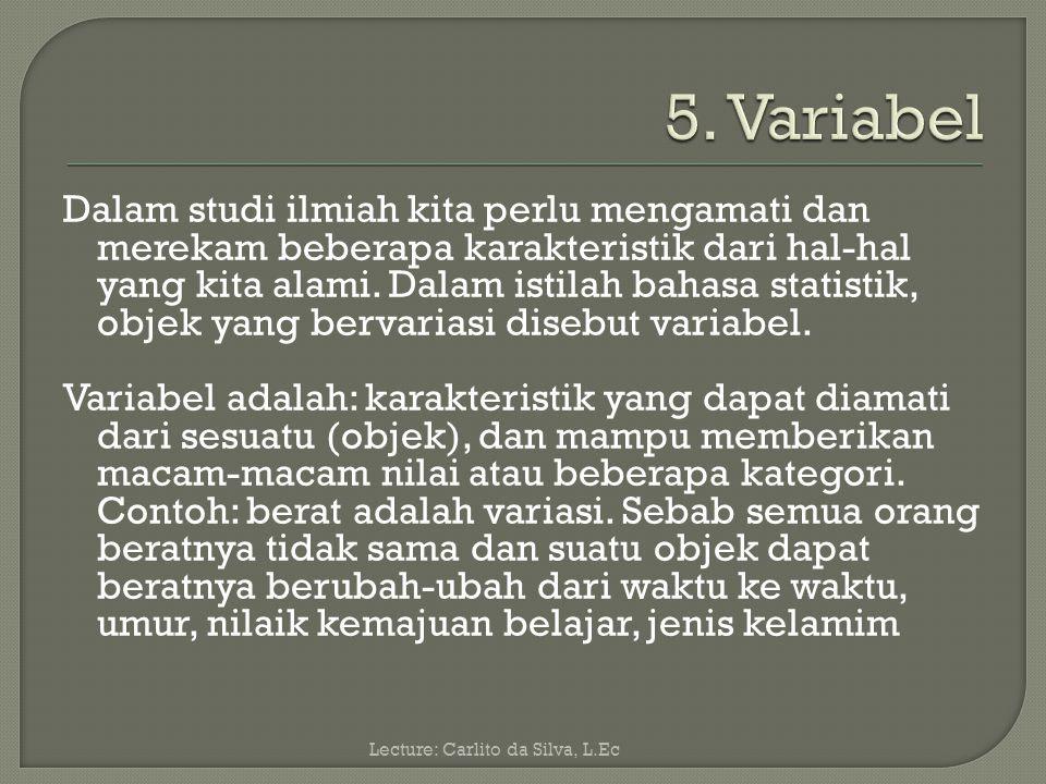 5. Variabel