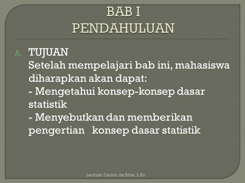 BAB I PENDAHULUAN TUJUAN