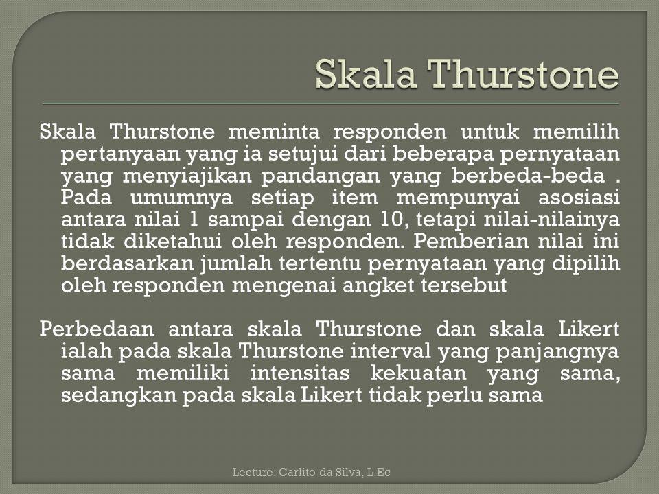 Skala Thurstone
