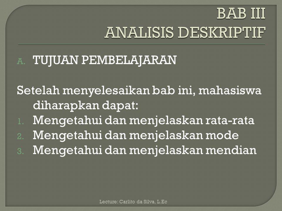 BAB III ANALISIS DESKRIPTIF