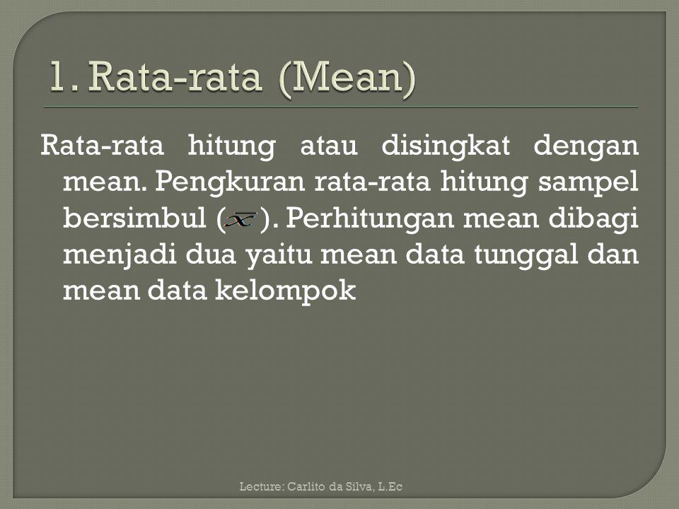 1. Rata-rata (Mean)