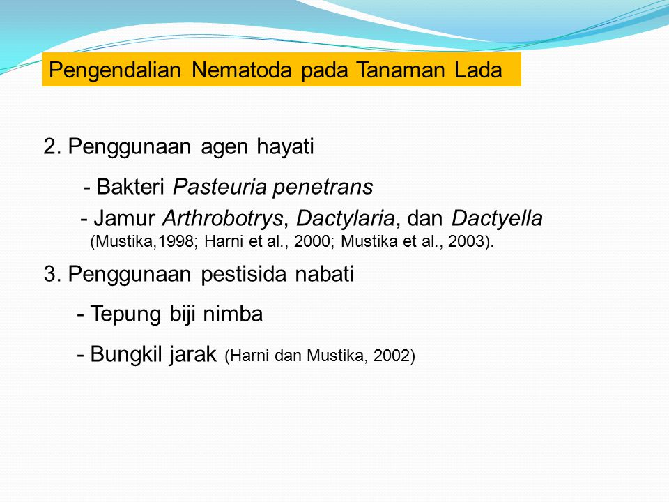Pengendalian Nematoda pada Tanaman Lada