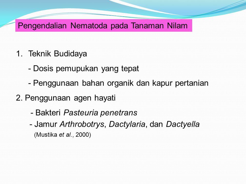 Pengendalian Nematoda pada Tanaman Nilam