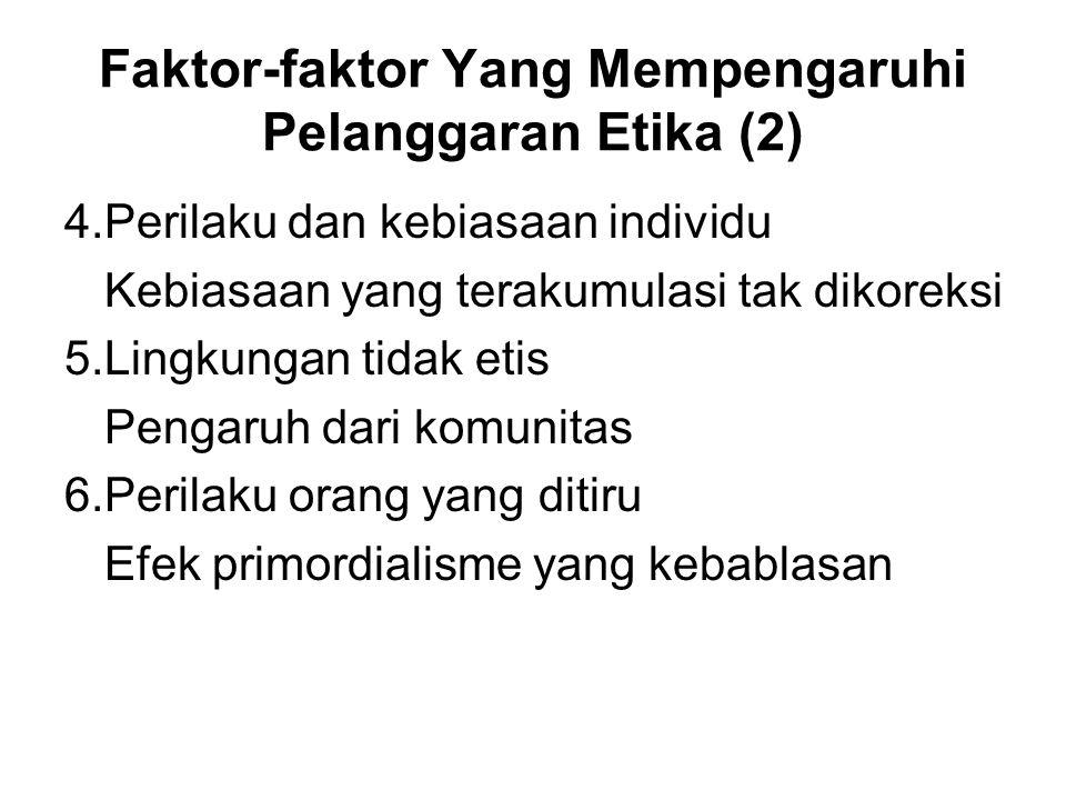 Faktor-faktor Yang Mempengaruhi Pelanggaran Etika (2)