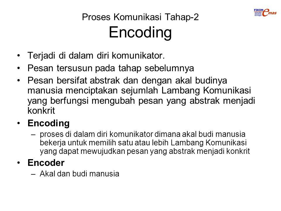 Proses Komunikasi Tahap-2 Encoding