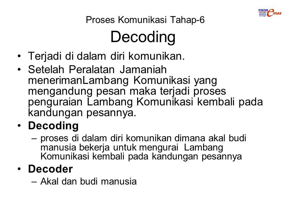 Proses Komunikasi Tahap-6 Decoding