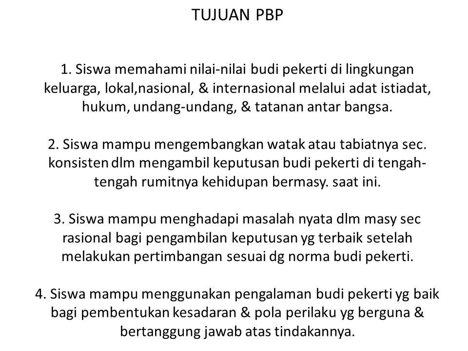 TUJUAN PBP 1.
