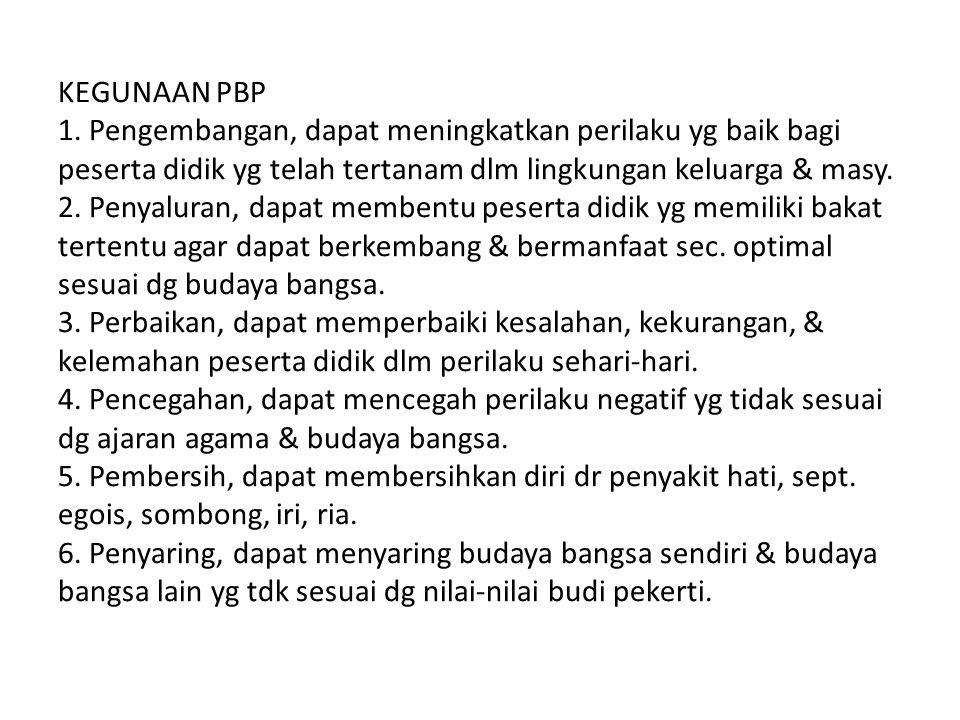 KEGUNAAN PBP 1.