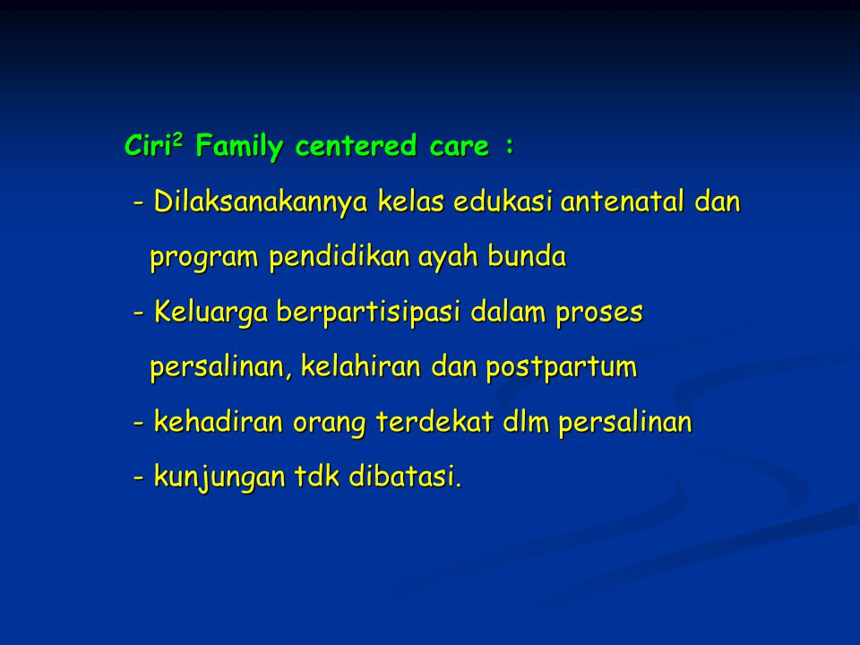 Ciri2 Family centered care :