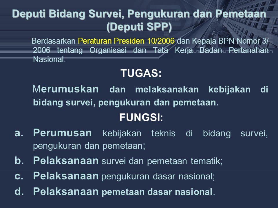Deputi Bidang Survei, Pengukuran dan Pemetaan (Deputi SPP)