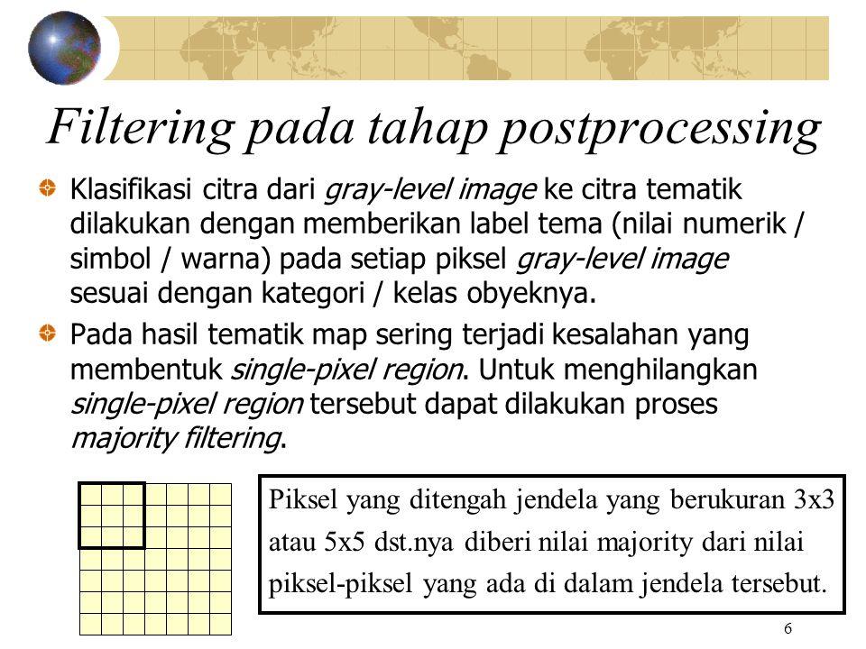 Filtering pada tahap postprocessing