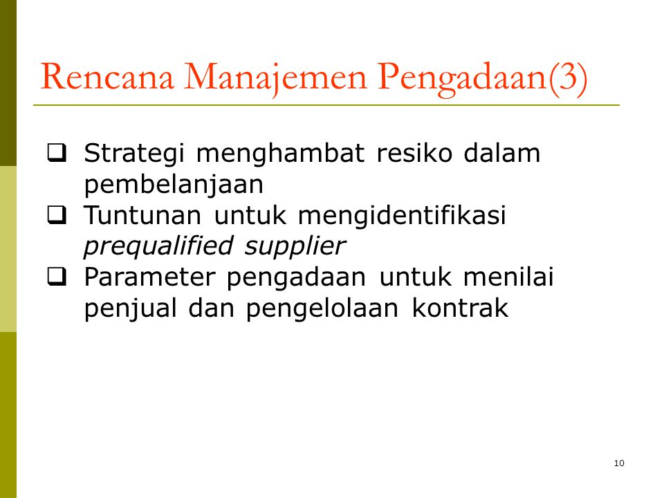 Rencana Manajemen Pengadaan(3)