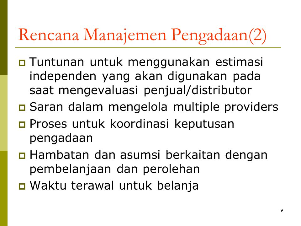 Rencana Manajemen Pengadaan(2)