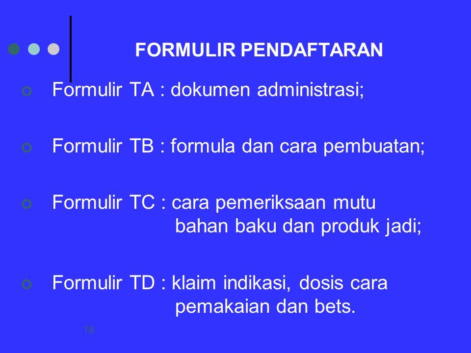 Formulir TA : dokumen administrasi;